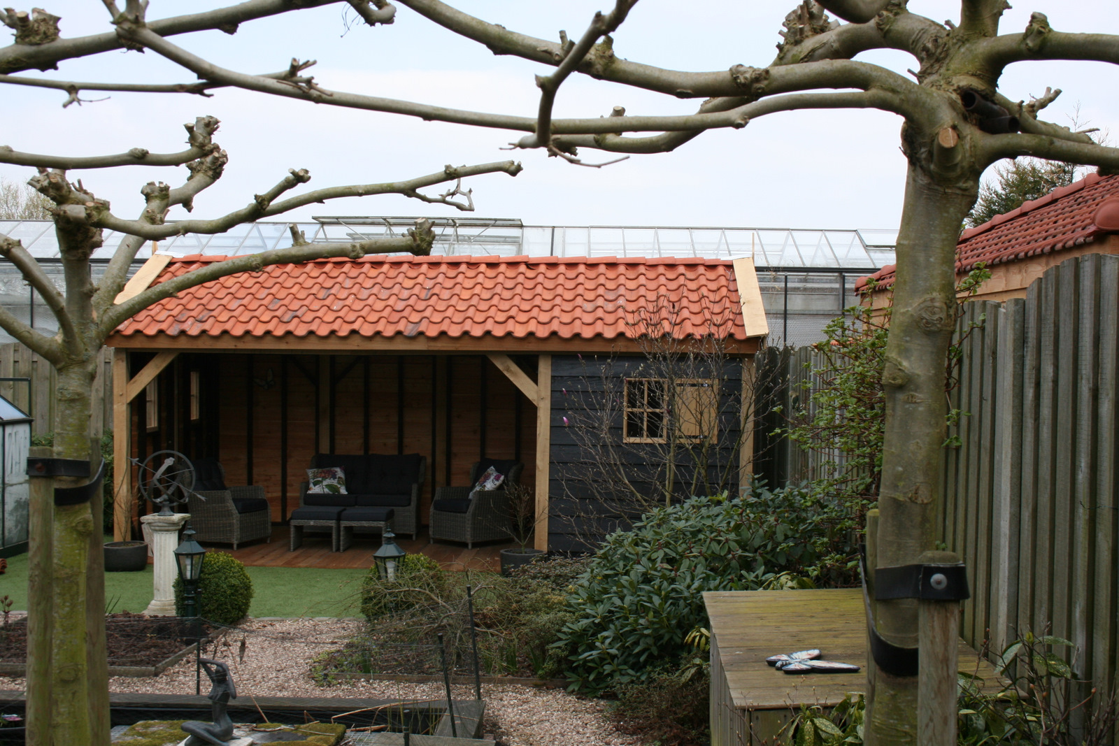 houten tuinhuis met tuinkamer