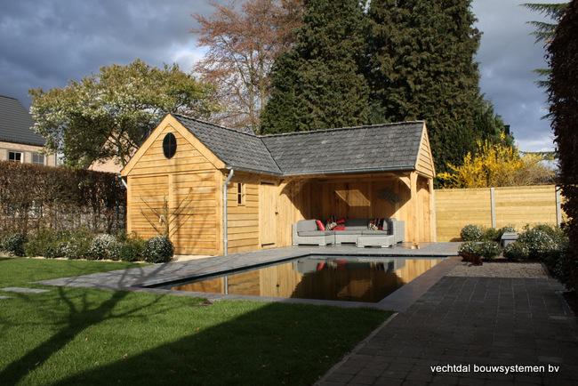 Maatwerk Eiken houten poolhouse