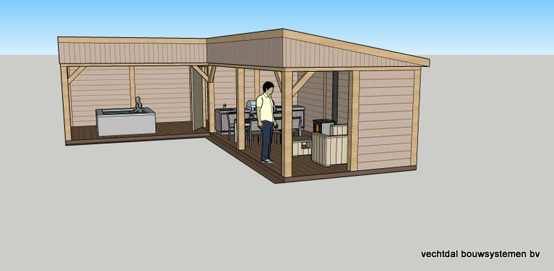 Vechtdal bouwsystemen authentieke bijgebouwen en tuinhuizen 3d impressies - Ontwerp tuinhuis ...