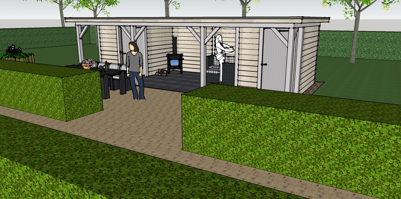 Eikenhouten bijgebouw poolhouse tuinhuis veranda of landelijke houten kapschuur op maat - Ontwerp tuinhuis ...