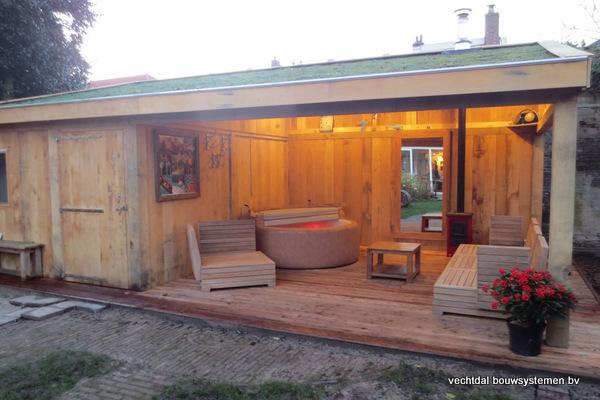 Eiken_bijgebouw_(6) - Eiken bijgebouw met stijlvolle tuinkamer geplaatst in Baarn.