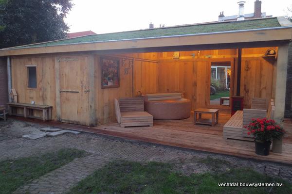 Eiken_bijgebouw_(7) - Eiken bijgebouw met stijlvolle tuinkamer geplaatst in Baarn.