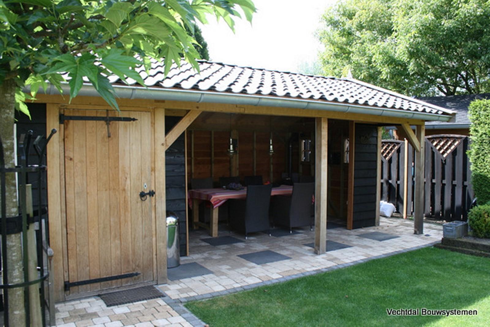 buitenkamer - Authentiek eikenhouten tuinhuis met tuinkamer.