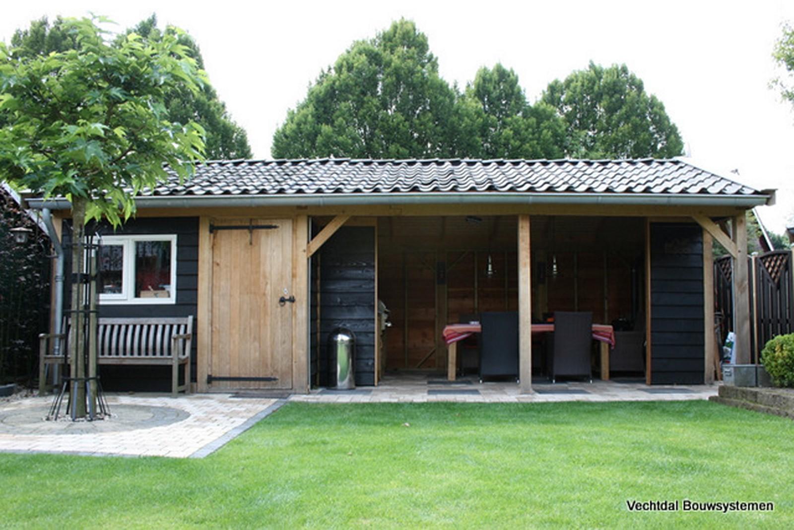 duurzame_buitenkamer - Authentiek eikenhouten tuinhuis met tuinkamer.