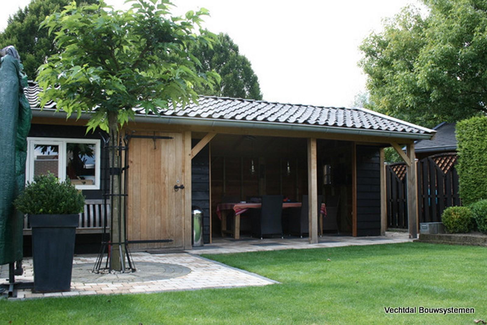 exclusieve_buitenkamers - Authentiek eikenhouten tuinhuis met tuinkamer.