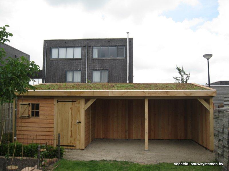 houten_tuinhuis_met_tuinkamer_groendak_(18) - Exclusief eikenhouten tuinhuis met tuinkamer opgeleverd in Heerenveen.