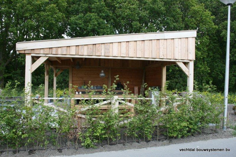 houten_overkapping_met_Groendak_(4) - Foto's eindresultaat houten overkapping met berging te Rotterdam.