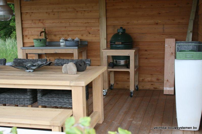 houten_overkapping_met_Groendak_(7) - Stijlvolle eikenhouten overkappingmet groendak.