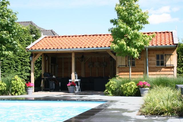 poolhouse - Sfeervol genieten het buitenleven en de zomer temperaturen.