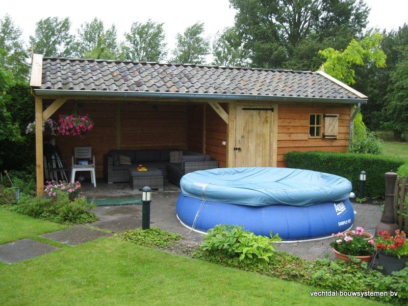 eiken_tuinhuis_met_tuinkamer_Andijk_(1) - Stijlvolle eikenhouten tuinhuis met tuinkamer opgeleverd in Andijk. (Noord Holland)