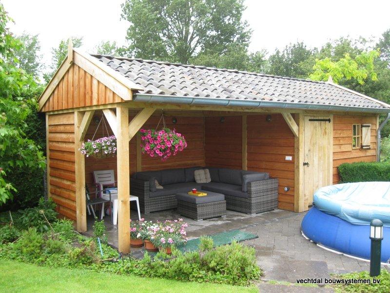 eiken_tuinhuis_met_tuinkamer_Andijk_(5) - Stijlvolle eikenhouten tuinhuis met tuinkamer opgeleverd in Andijk. (Noord Holland)