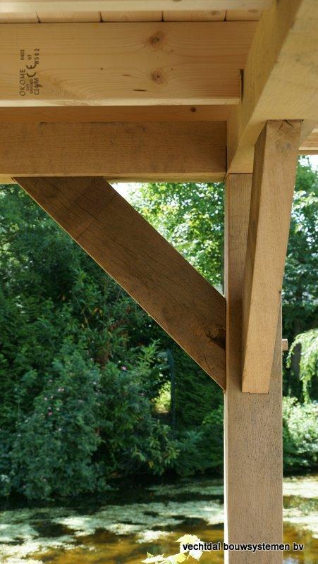 eikenhouten_tuinhuis_met_platdak_Rottedam_(6) - Geniet optimaal van de warme zomeravonden in een sfeervolle eikenhouten tuinkamer.