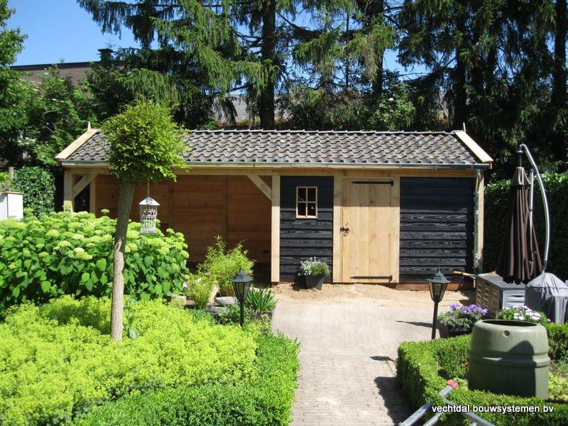 05-IMG_2312 - Nostalgisch eikenhouten tuinhuis met overkapping opgeleverd in Wijhe.