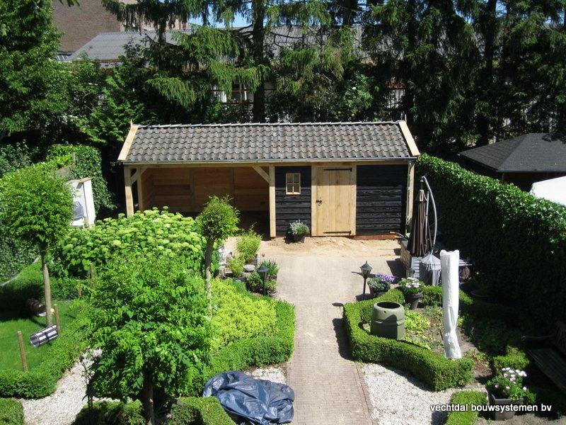12-IMG_2320 - Nostalgisch eikenhouten tuinhuis met overkapping opgeleverd in Wijhe.