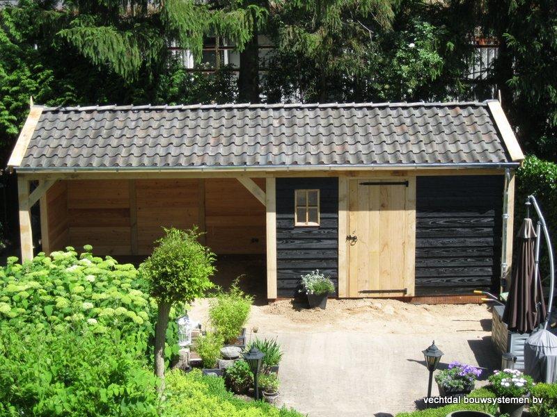 13-IMG_2321 - Nostalgisch eikenhouten tuinhuis met overkapping opgeleverd in Wijhe.