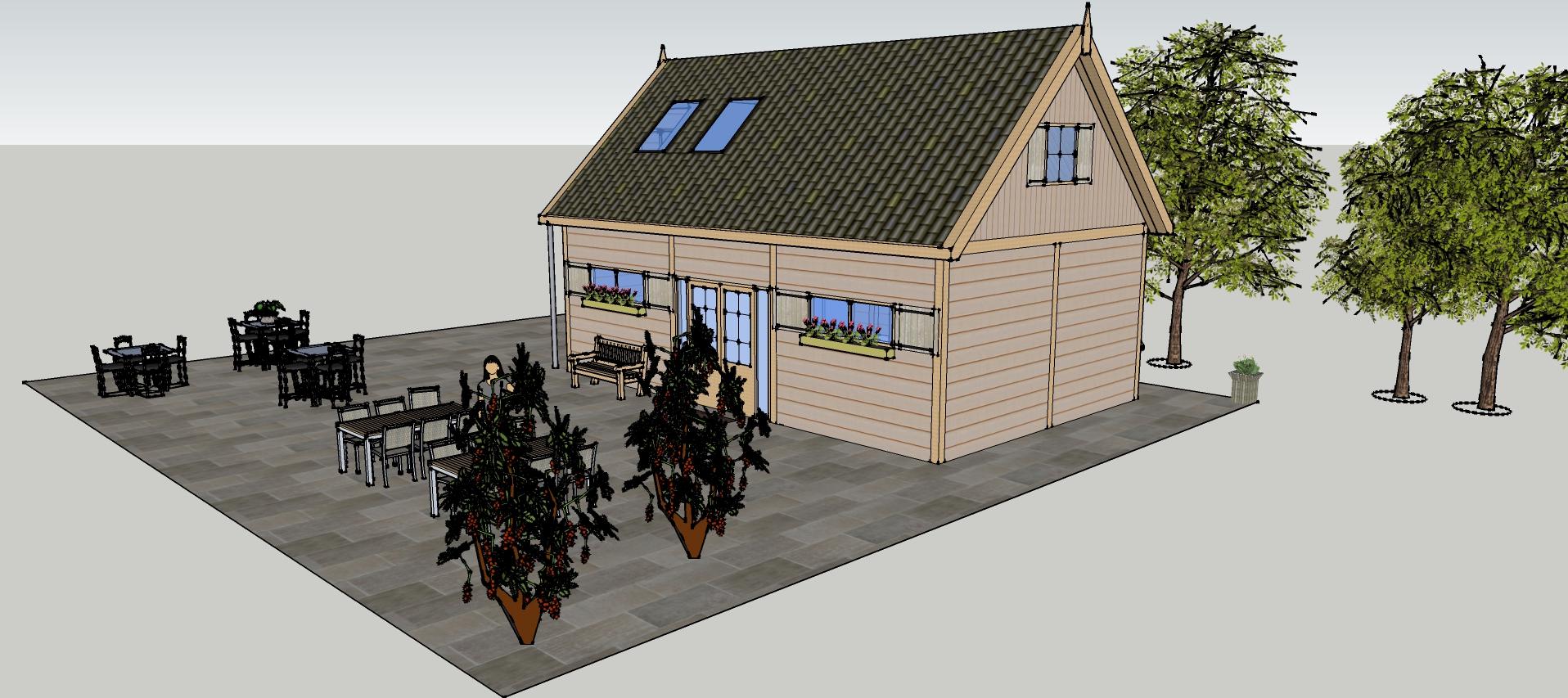 Ontwerp_Dinteloord_versie_4_1-3 - Prachtige larikshouten bijgebouw-Trainingsruimte in opdracht gekregen.