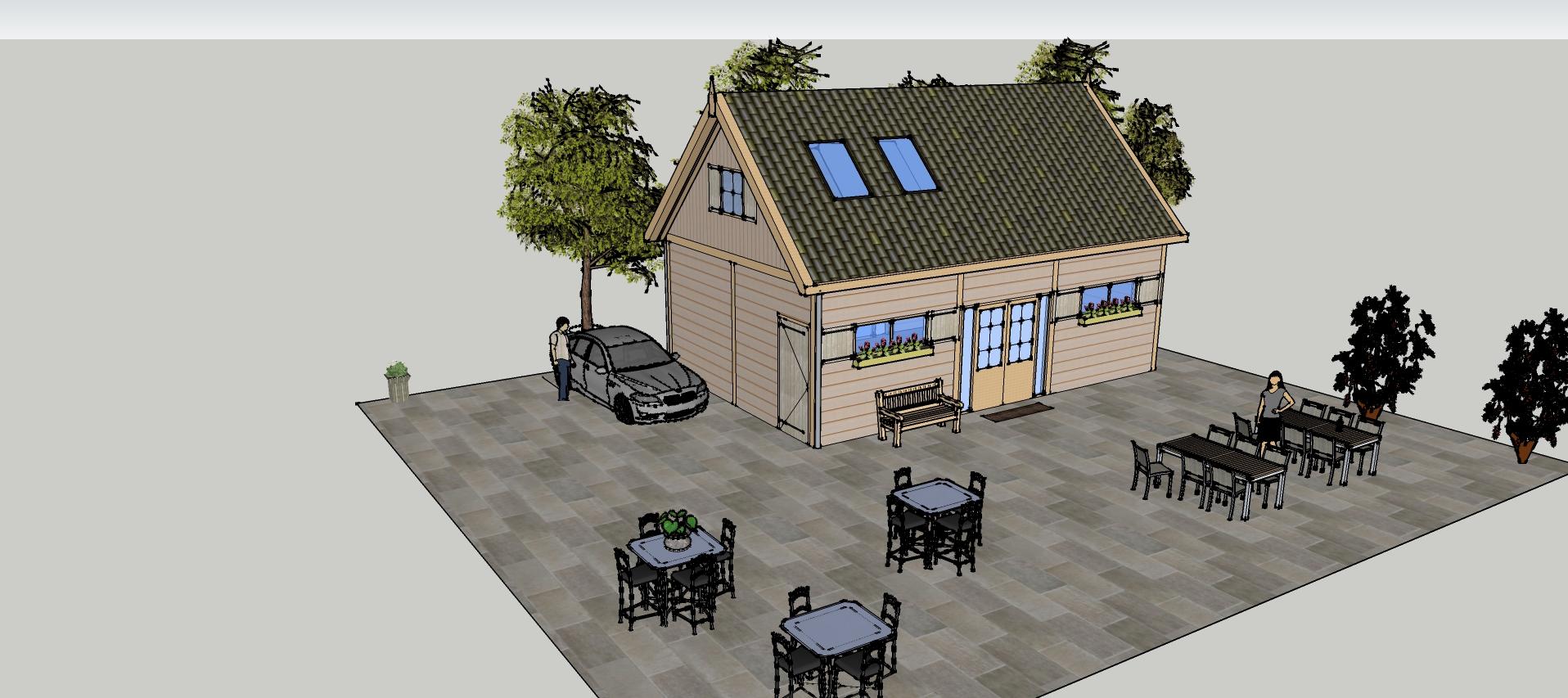 Ontwerp_Dinteloord_versie_4_1-6 - Prachtige larikshouten bijgebouw-Trainingsruimte in opdracht gekregen.