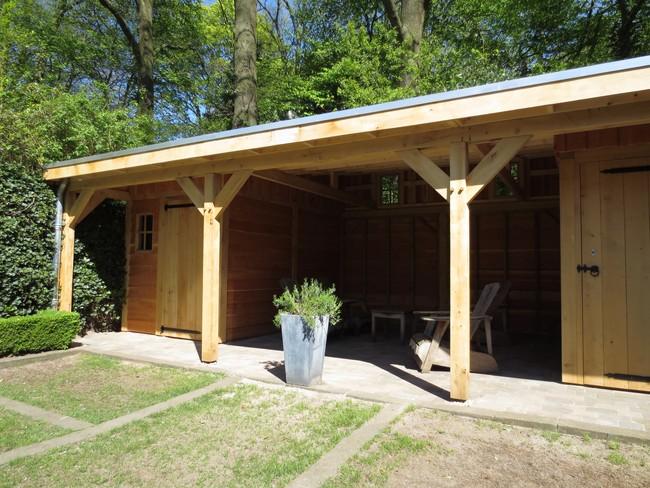 30_Ambachtelijk_houten_tuinhuis - Subsidie op groendak. Bijgebouwen/tuinhuizen/overkappingen of landelijke schuren.