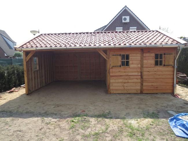 eiken_houten_tuinhuis_23 - Luxe eikenhouten tuinhuis met veranda gemonteerd in Limburg.