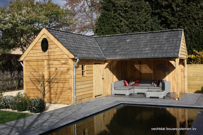 eiken_terrasoverkapping_(2) - Luxe eiken Poolhouse.
