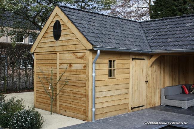 eiken_terrasoverkapping_(7) - Exclusief eikenhouten bijgebouw opgeleverd in Balen.