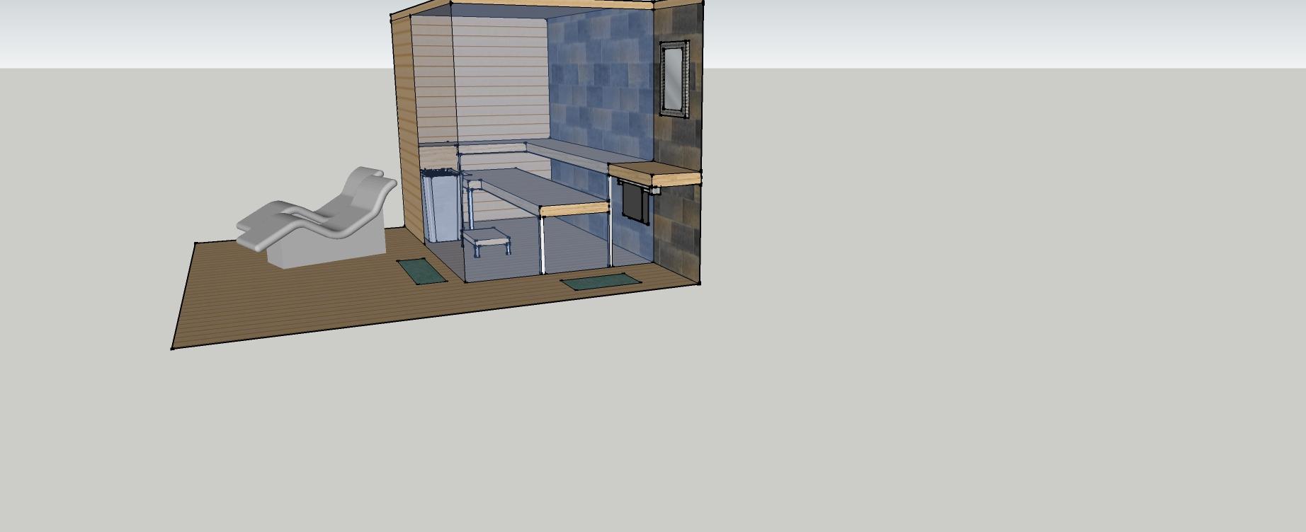 Wassenaar_sauna_4 - Ontwerp: Eikenhouten bijgebouw met carport en berging. Voorzien van wellness, sauna en stoomcabine. Plaats Wassenaar