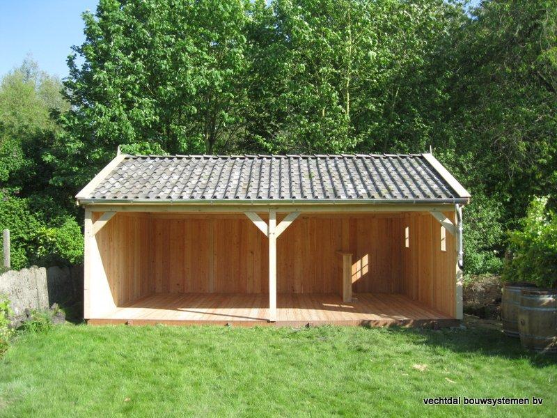 1-houten_veranda_heist_op_den_berg_(1) - Prachtige eikenhouten veranda opgeleverd in Heist op den Berg (België)