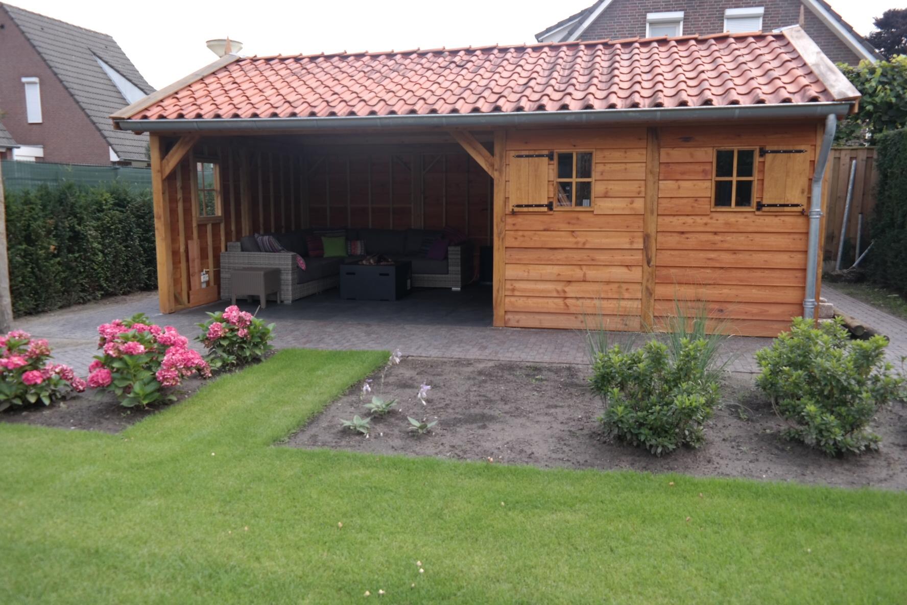 eikenhouten_veranda - Foto impressie eikenhouten bijgebouw opgeleverd in Limburg (NL).
