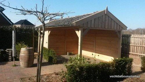 4-Houten_tuinkamer_met_veranda_(4) - Houten tuinkamer met veranda opgeleverd