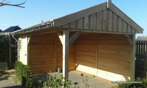 7-Houten_tuinkamer_met_veranda_(7) - Houten tuinkamer met veranda opgeleverd