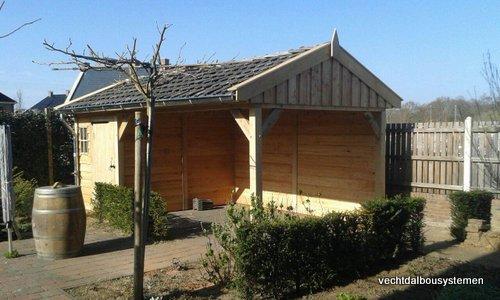 8-Houten_tuinkamer_met_veranda_(8) - Houten tuinkamer met veranda opgeleverd