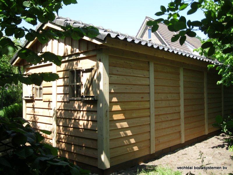 1-IMG_2235 - Robuust eikenhouten tuinhuis met veranda geplaatst in Ommen.
