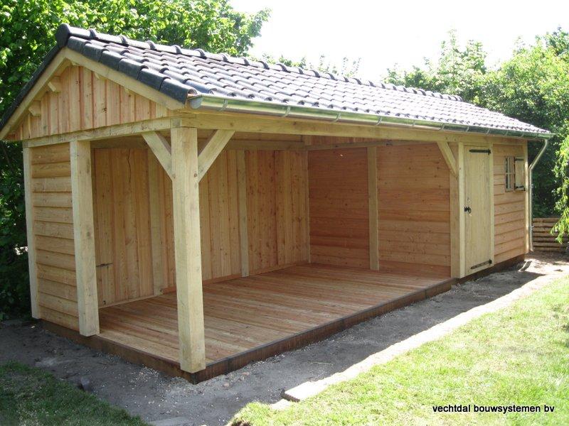 2-IMG_2236 - Robuust eikenhouten tuinhuis met veranda geplaatst in Ommen.