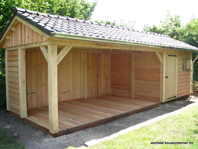 3-IMG_2237 - Robuust eikenhouten tuinhuis met veranda geplaatst in Ommen.