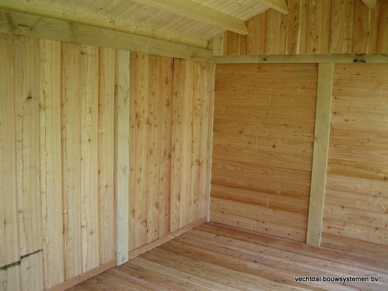 4-IMG_2238 - Robuust eikenhouten tuinhuis met veranda geplaatst in Ommen.