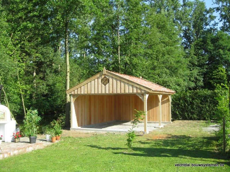01-Eiken_houten_poolhouse_Belgie_(2) - Landelijk eikenhouten poolhouse gerealiseerd in Aarschot. (België)