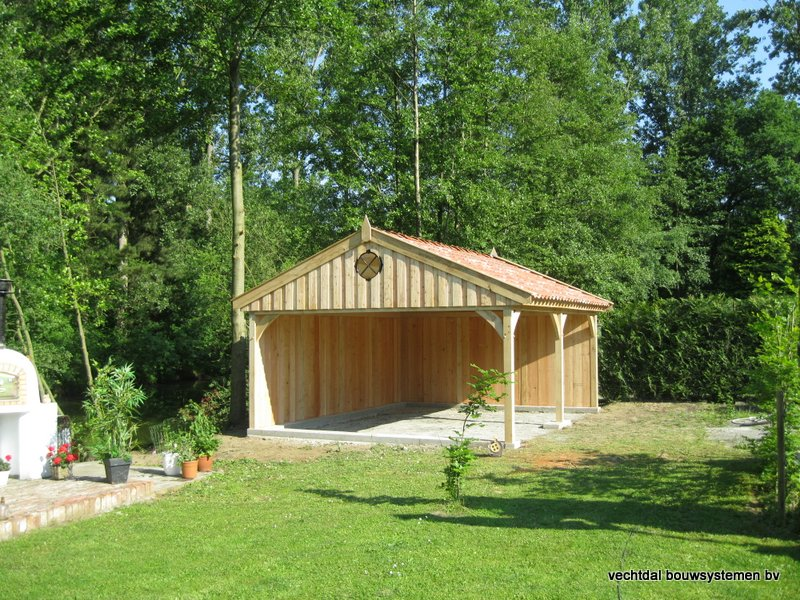 02-Eiken_houten_poolhouse_Belgie_(3) - Landelijk eikenhouten poolhouse gerealiseerd in Aarschot. (België)