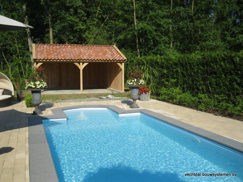 04-Eiken_houten_poolhouse_Belgie_(5) - Landelijk eikenhouten poolhouse gerealiseerd in Aarschot. (België)