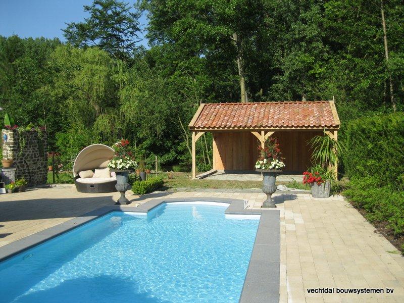 05-Eiken_houten_poolhouse_Belgie_(6) - Landelijk eikenhouten poolhouse gerealiseerd in Aarschot. (België)