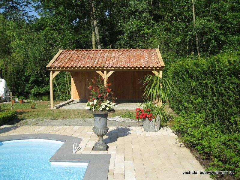 06-Eiken_houten_poolhouse_Belgie_(7) - Landelijk eikenhouten poolhouse gerealiseerd in Aarschot. (België)