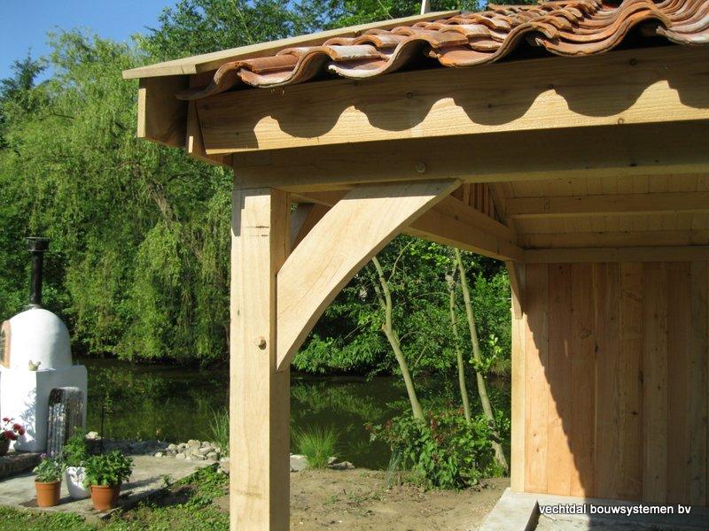 08-Eiken_houten_poolhouse_Belgie_(9) - Landelijk eikenhouten poolhouse gerealiseerd in Aarschot. (België)