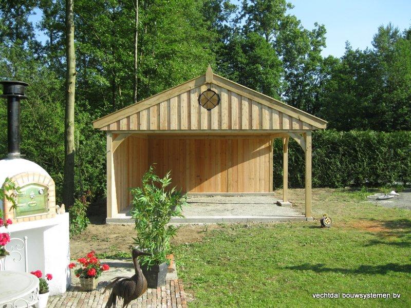 15-Eiken_houten_poolhouse_Belgie_(16) - Landelijk eikenhouten poolhouse gerealiseerd in Aarschot. (België)