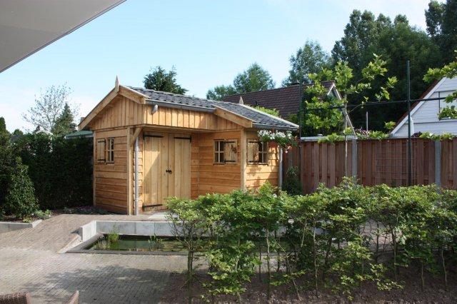 tuinhuisjes_1 - Stijlvolle eikenhouten tuinhuisjes op maat gemaakt.