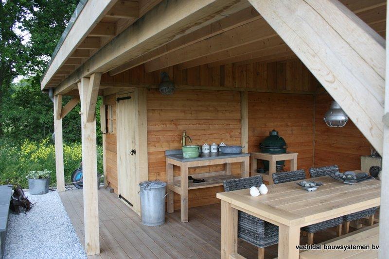 houten-overkapping-met-Groendak-16 - tuinhuis met tuinkamer 'groendak'