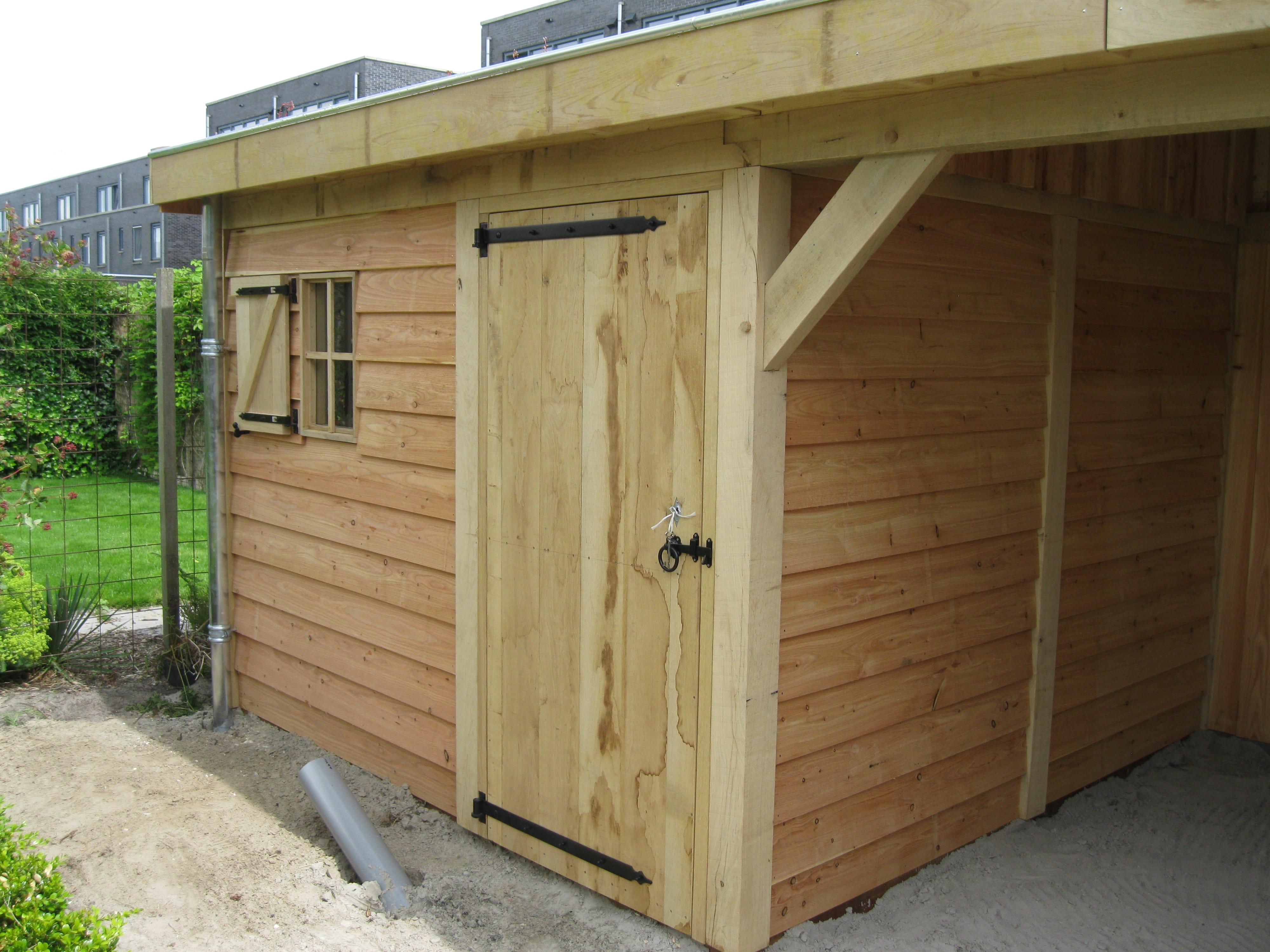 Houten-tuinhuis-met-tuinkamer-groendak-3-min - tuinhuis met veranda 'groendak'