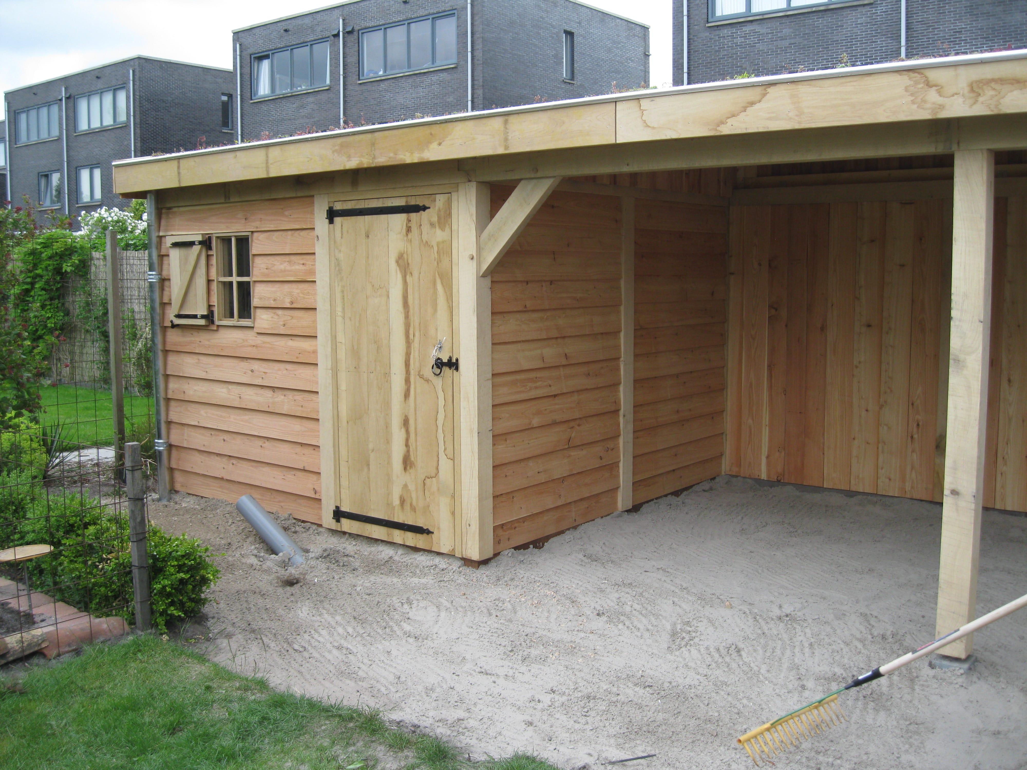 Houten-tuinhuis-met-tuinkamer-groendak-7-min - tuinhuis met veranda 'groendak'