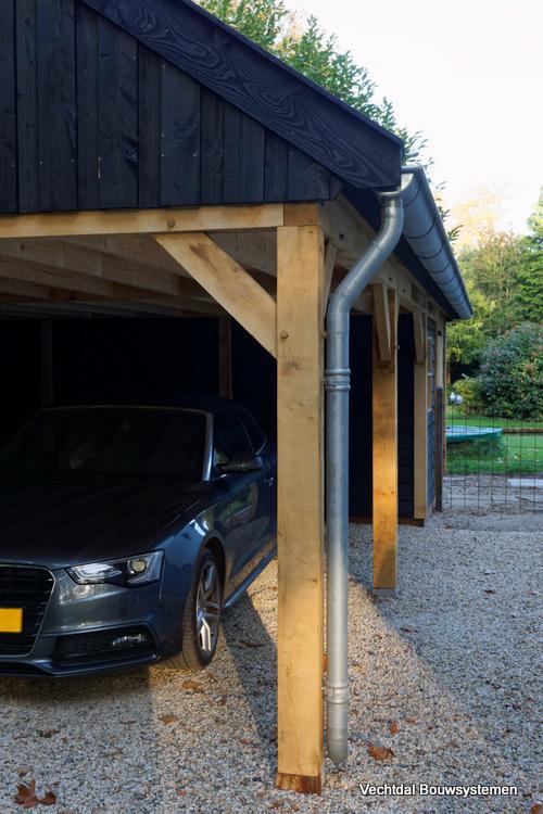 landelijke-schuur-met-carport-3 - Klassiek houten schuur
