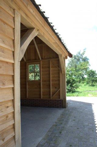 houten-kapschuur-5 - Houten schuur drentsmodel