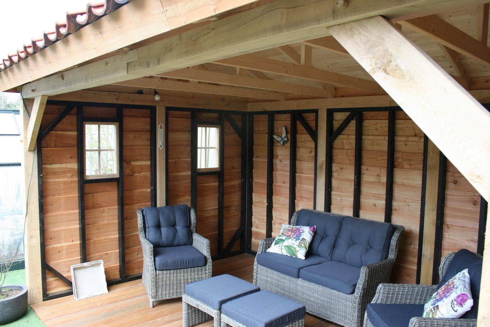 houten-tuinkamer-9 - Tuinhuis met tuinkamer Base