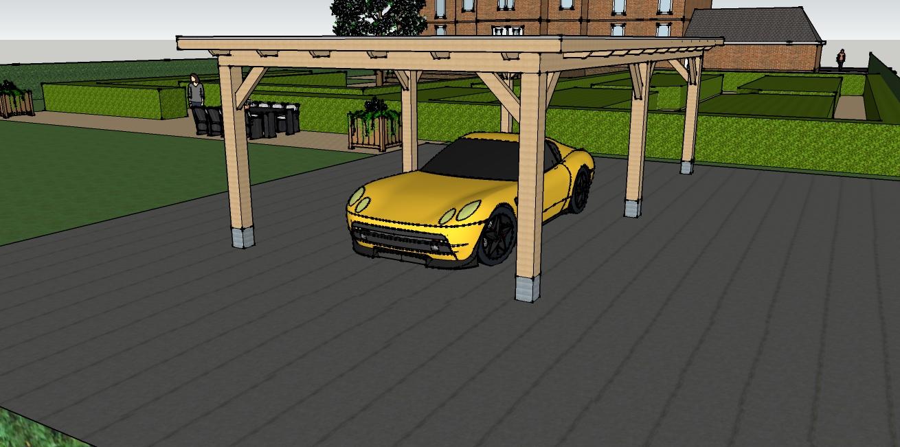 eiken_carport - Houten carport